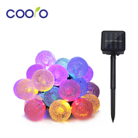 4 8M 20LEDs Crystal Ball String Waterproof Outdoor Solar Led String Holiday String Fairy Light Garden