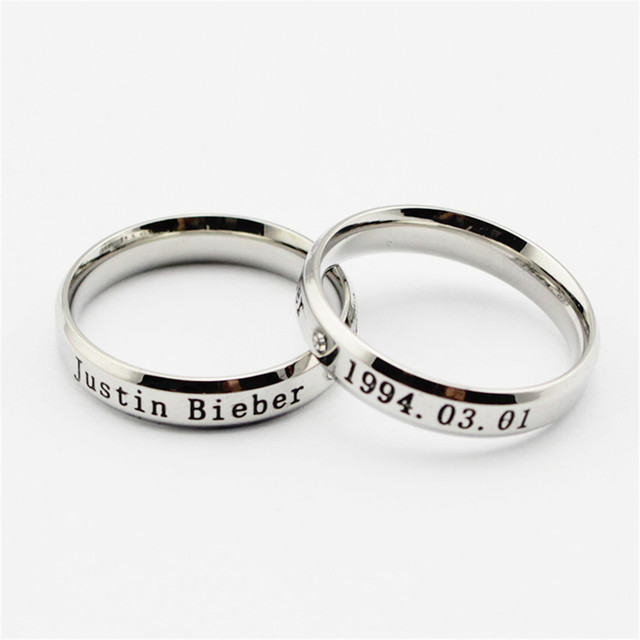 Wholesale KPOP Justin Bieber LOGO Silver ring Men or Women rings