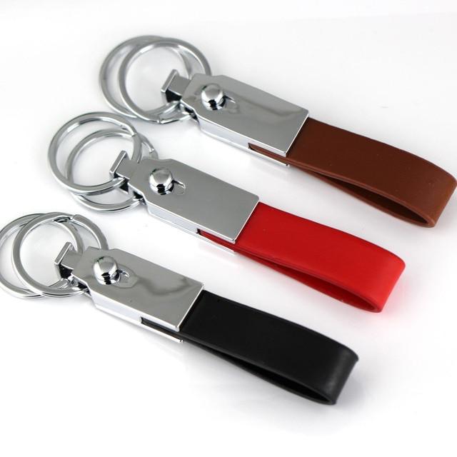Key Fob Keychain >> Detachable Leather Keychain Clip Waist Belt 2 Loops Pants Buckle