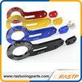 RASTP-Alta Calidad Car Styling Doble Letras BENEN 0185 Trasero Tow Hook Set (rojo, azul, negro, púrpura, oro) LS-TH002