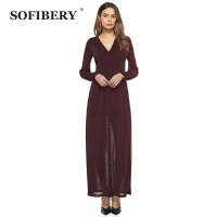 SOFIBERY Women Dress Winter Dresses For Women European Style Women Fall Dresses Long Sleeve Knitted Lantern