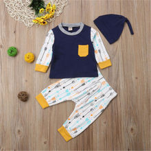 CANIS Newborn Toddler Infant Baby Boy Clothes Set Cotton Print T-shirt Tops+ Cotton Pants Bebe Boys Kid Clothing Outfits Sets(China)