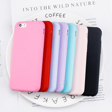 Fashion Simple Candy Color Cover For iphone 6 Cases For iphone 7 6 6S 8 Plus X Case Ultra thin Soft TPU Silicone Back Case Coque xincuco ultra thin leather protective case for iphone 6s plus 6 plus simple business style dark blue