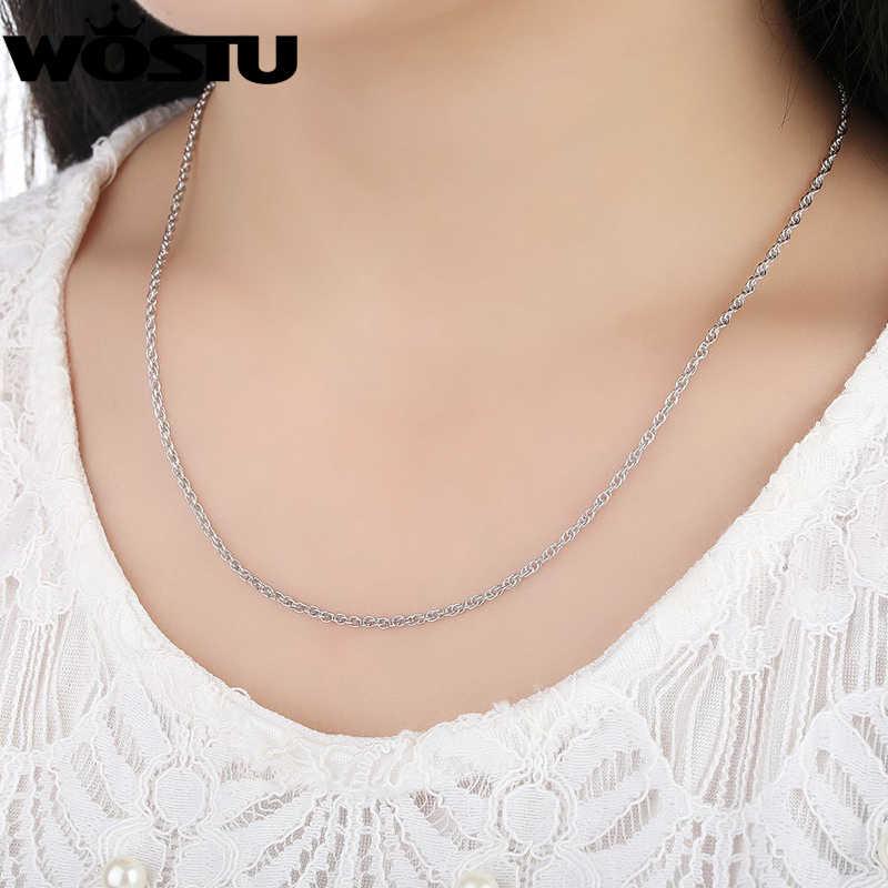 Wysokiej jakości 100% 925 Sterling Silver Twisted łańcuchy naszyjniki nadające się do wisiorek urok dla kobiet mężczyzn luksusowe S925 biżuteria prezent