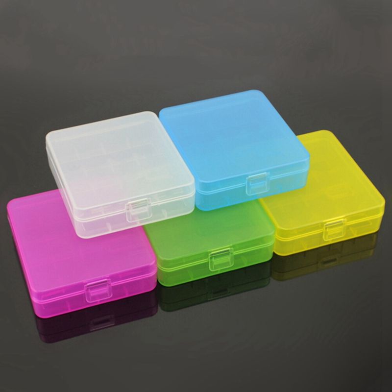 18650 Rechargeable Battery Storage Box Plastic Box 4 Section Equipment Thicken