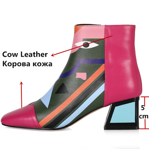 Image 3 - FEDONAS 2021 Fashion Brand Women Ankle Boots Warm High Heels Ladies Shoes Woman Party Dancing Pumps Basic Genuine Leather Boots