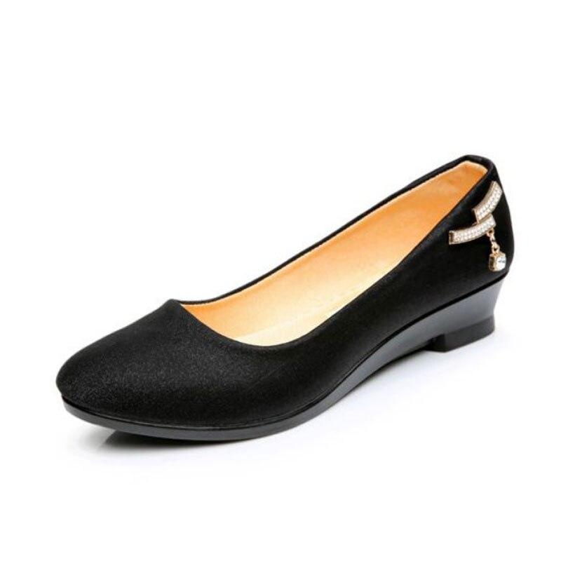 New Autumn Female Shoes Comfort Black