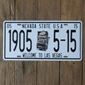 15x30 cm  vintage license plates NEVADA STATE 1905 5-15 retro iron painting wall sticker number plate metal craft DECOR