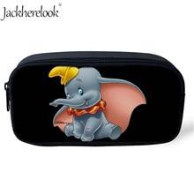 Jackherelook Kids Student Cartoon Pencil Bag for Children Cute Dumbo Movie Printed Cosmetic Cases Makeup School