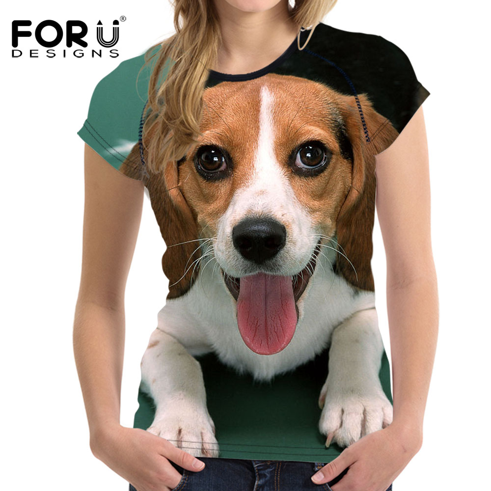 Forudesigns Funny Women Summer T Shirt Corgi Flower Dog Print Female Short Sleeve Tops Tees Harajuku Fitness T-shirts Plus Size Tops & Tees