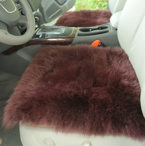 Image 4 - Australia Sheepskin luxury fur cushion /wool covers for car seat inner decorative throw cushion sofa