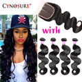 Peruvian Virgin Hair Body Wave With Closure Cynosure Hair With Closure Rosa Hair Product Peruvian Body Wave Bundles With Closure