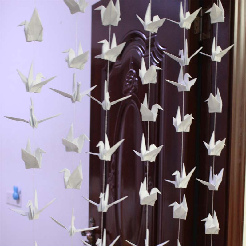 White Origami Bird for Party Decor or Wedding Garland 1 Count White Paper Crane