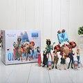 Conjunto de 10 4-18 cm de Una Pieza Del Anime de One Piece Figuras Muñecas Juguetes 2 Años Después Large Muñeca modelo