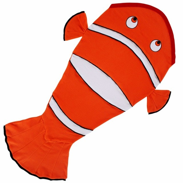 2017 new arrival kids sleeping bag mermaid tail blanket nemo sleeping bag fleece fish kids blanket kids sleepsack Kids Swaddle