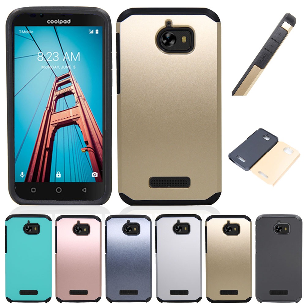 Case For CoolPad Defiant 3632 Dual Layer Shockproof Hybrid Armor Case Impact Protective Hard Cover For CoolPad Defiant 3632 @ ...