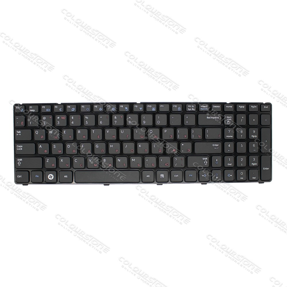 Original Brand New RU Laptop Keyboard for Samsung R580 Russian Black keyboard  (5)