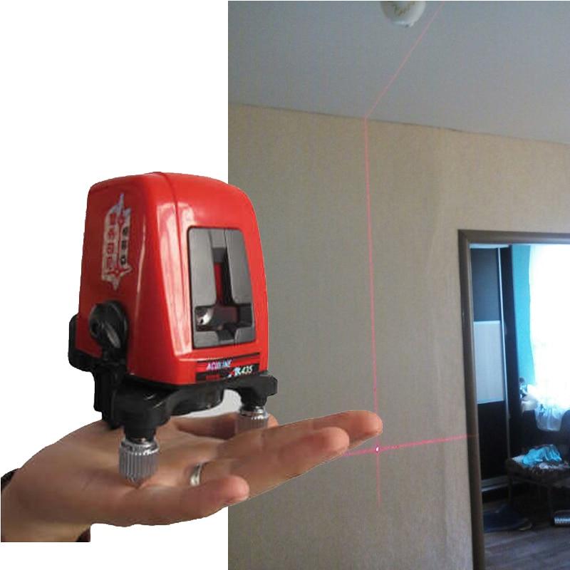 ACULINE AK435 Laser Level 2 Line 1 Dots 1V1H Portable 360 Self leveling Cross Red Line