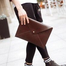 Clutch Man Bag Cartera Oficina Envelope Diagonal Thin File Package Portafolio Briefcase Men Work Werk Tas Mannen PU Leather