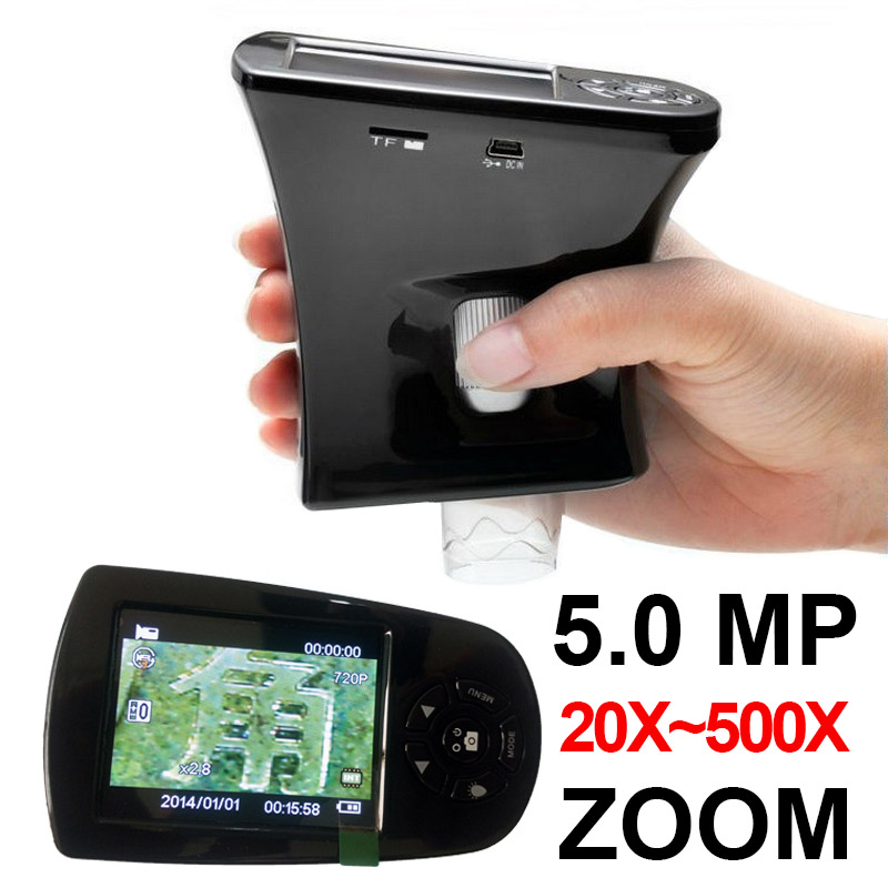 5MP 20X-500X Zoom Portable Handheld Digital Microscope Electronic Microscope Digital with LCD Screen for Image Video Capture  цены