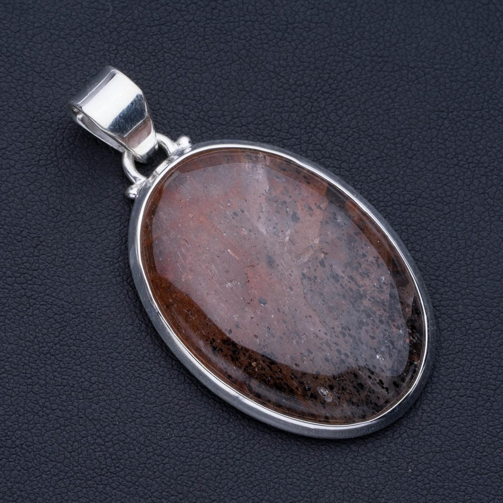 Natural Calcite Punk Style 925 Sterling Silver Pendant 2 P0888Natural Calcite Punk Style 925 Sterling Silver Pendant 2 P0888