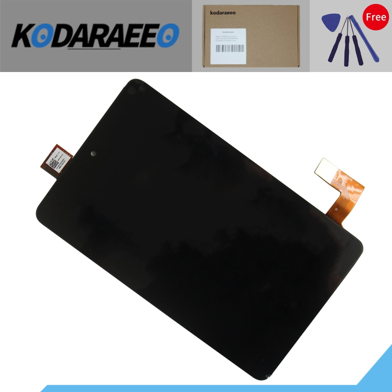 kodaraeeo LCD Display Touch Screen Digitizer Glass Assembly For Dell Venue 7 3740 7-inch Black Free Shipping new touch screen with digitizer panel front glass for dell t01c venue 7 3730 free shipping