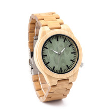BOBO BIRD B22 Fashion Wood Wristwatch Bamboo Watch with Silver Needle Casual Jaapaness Quartz Watch for Unisex in Paper Gift Box