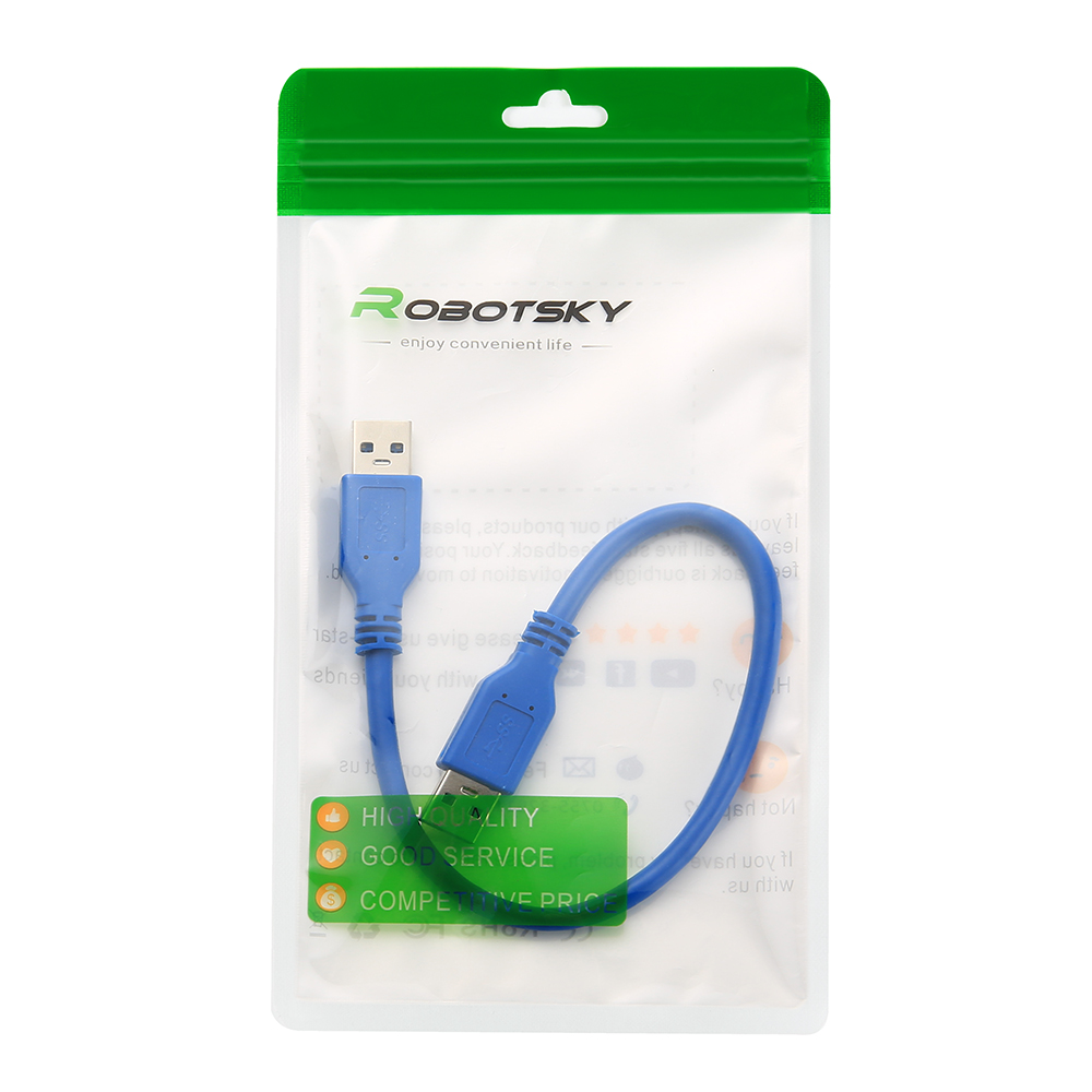 Black 0.5m Generic Xiwai B Male A//B M//M Printer to Right Angled 90 Degree USB 2.0 A Male Cable 50cm