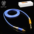 1.8m RCA Spring Less Silicone Blue Tattoo Clip Cord 100% Soft Silicone Tattoo Power Supply 5 Colors For Free Shipping
