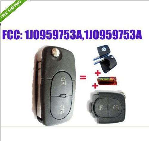 1J0 959 753 A NEW FLIP KEY REMOTE FOR 1998 2000 VOLKSWAGEN ...