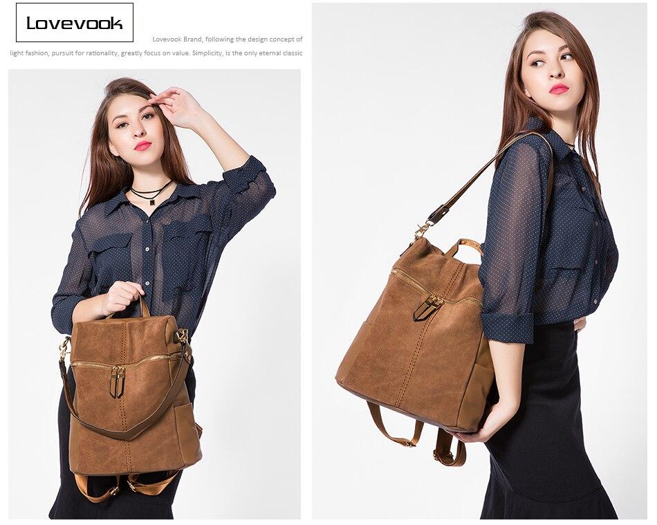 HTB1pfkTbeuSBuNjy1Xcq6AYjFXa1 LOVEVOOK vintage women backpack nubuck leather PU school backpacks for teenage girls large capacity shoulder bags for women 2019