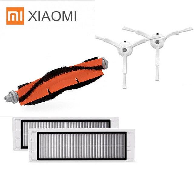 Подходит для Xiaomi Roborock S50 S51 robot пылесос 2 spare Запчасти Наборы 2 боковая щетка + 2 HEPA фильтр + 1 основной щетки аксессуары