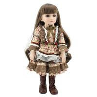 Lovely Long Hair Girls Dolls 3D Lovely Realistic Lifelike Soft Silicone Reborn Baby Doll Toys For Kids Birthday Gifts