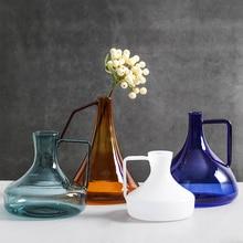 Modern  glass vase pot type terrarium Crafts flower vases nordic decoration home jarrones decorativos moderno small