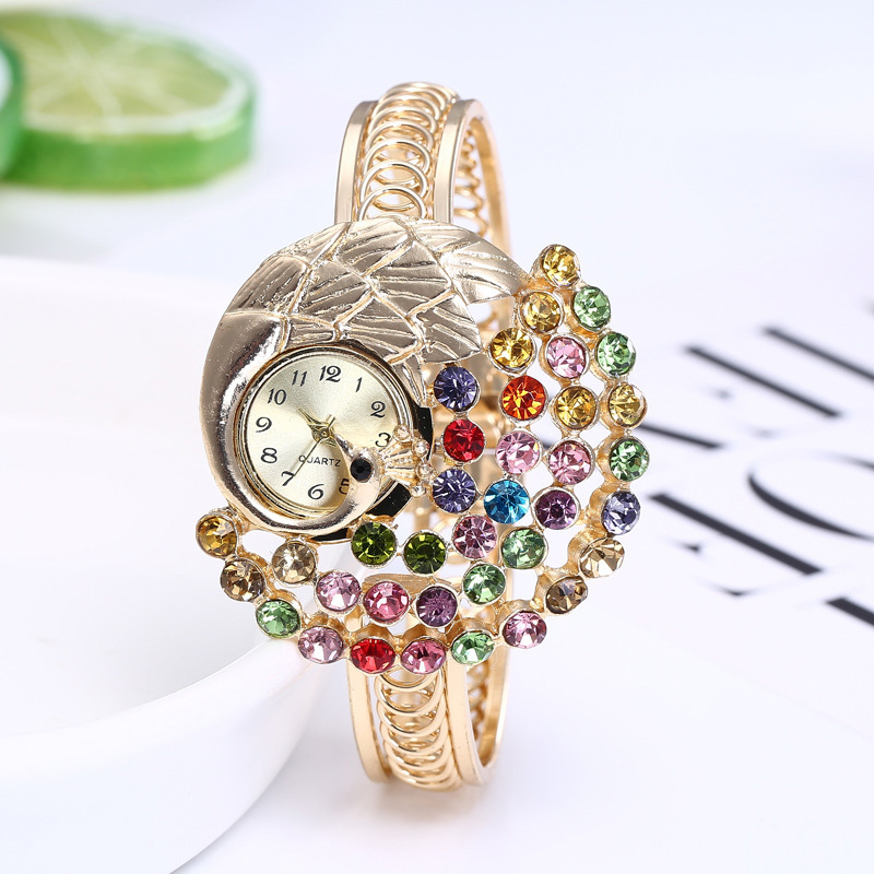 women Jewelry Watches Casual Bracelet Watch lady peacock Relogio Rhinestone Analog Quartz Watch Clock Female Montre Femme