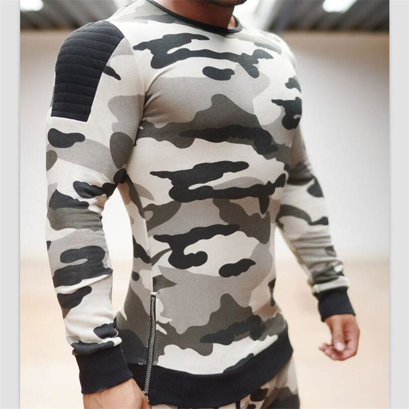 2017 font b Men s b font Hoodies Pullovers High Quality Camouflage Casual Sweatershirt Fitness font