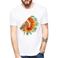 2018 Son Moda Kısa Kollu Serin Kraliçe Aslan Baskılı T-Shirt komik Şefi Lioness T-shirt Hipster O-Boyun Tribal Aslan Tee Tops