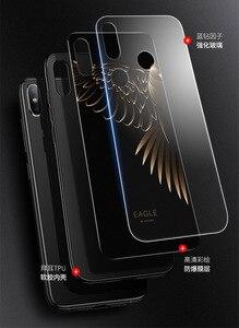 Image 2 - Caso de telefone de vidro temperado para xiao mi vermelho nota 7 pro xiao mi 8 mi 8 lite mi x 2s mi x 3 caso luxo aixuan capa