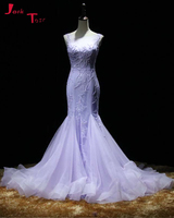 Jark Tozr 2017 New Special Lace Up Vintage Bridal Gowns Gelinlik Beading Sequin Luxury Mermaid Bride