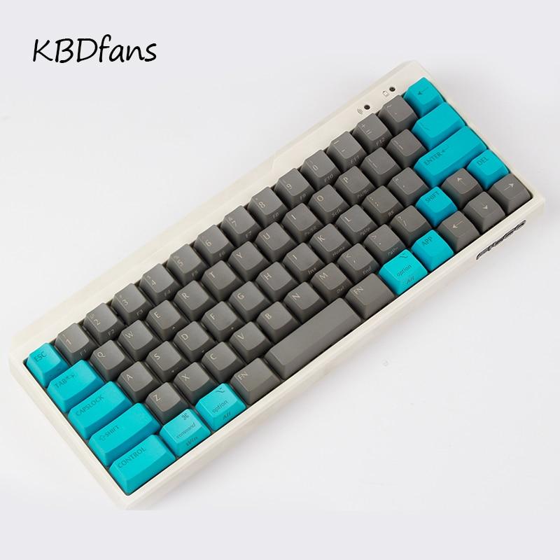 Black PBT blank white gray mechanical keyboard filco minila air thick PBT white side print keycap
