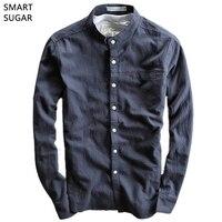 SMART SUGAR 2017 Spring Summer New Shirt Men Soft Full Sleeve Cotton Linen Solid Breathable Slim