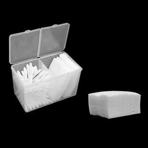 Image 5 - Đôi Lưới Trong Suốt Cotton Sheet Hộp Bảo Quản Trang Điểm Miếng Bông Hộp Bông Tăm Bông Hộp Hình Xăm Phụ Kiện
