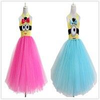 2015 Yeni cosplay minion tutu elbise bebek kız çocuk çocuklar için moda kölelerinin elbise pretty doğum günü partisi elbise