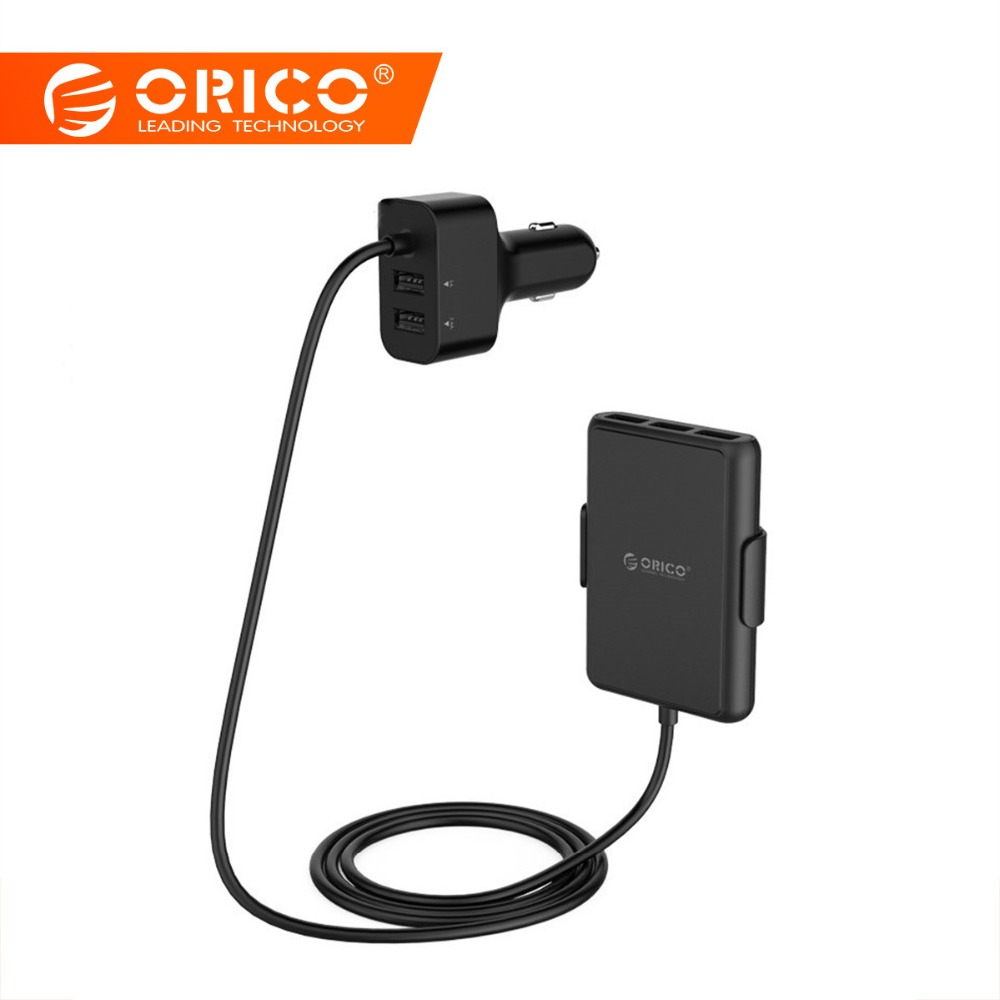 ORICO 5 Ports USB Car Charger Quick Charge 3.0 Mobile Phone Car-charger adapter for iPhone 7 6s Samsung Xiaomi Car Phone Charger