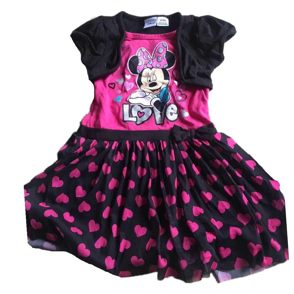 ,8pieces/lot 1-5 baby girls minnie mouse dress,Minnie dots dress,short-sleeved cute dress for summer