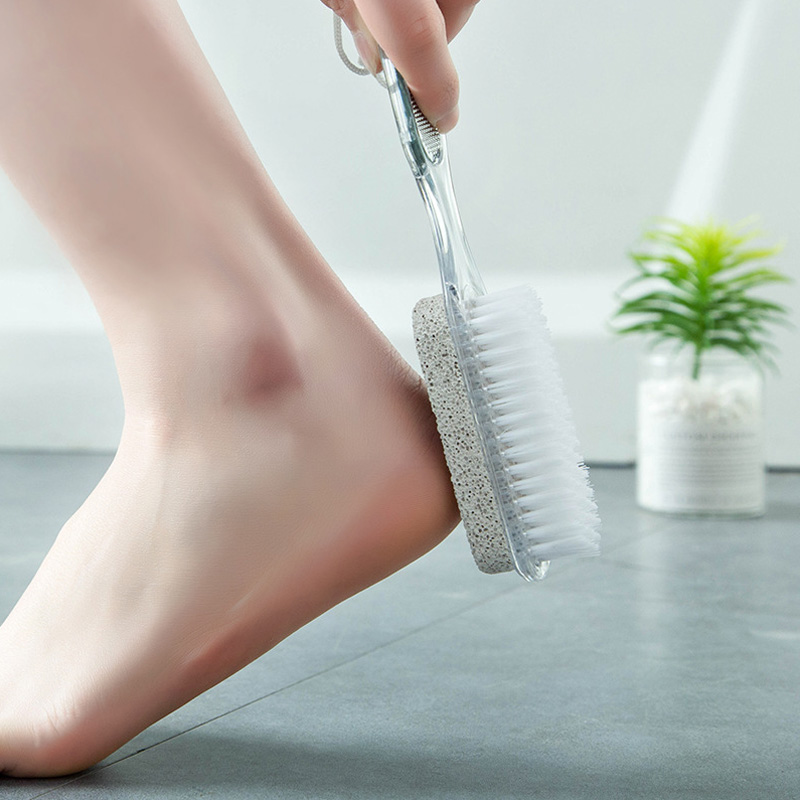 4 In 1 Remove Dead Skin Grinding Stone Foot Exfoliating Tool Washing Brush Foot Protector Foot Care Tools Home Accessories