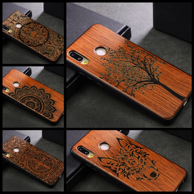 low priced 73e19 ab2ce US $8.99 |Wood Wolf For Huawei P20 Lite P20 Pro Case Luxury Back Tree TPU  For Huawei Mate 20Pro 20X Honer 10 8X Wooden Phone Cases Cover-in Fitted ...