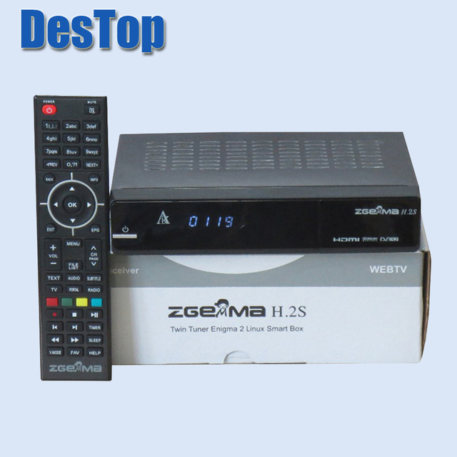 1pc [Genuine] Zgemma Star H.2S Satellite Receiver 2000 DMIPS CPU PROCESSOR Linux OS two DVB-S2 tuner ZGEMMA H.2S