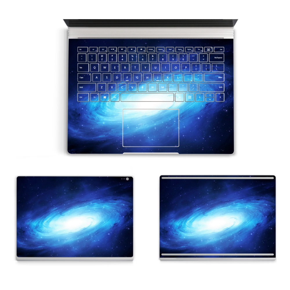 2017 Hot Sale Laptop Starry Sticker For Micro Surface Book Top Bottom Vinyl Decal+Keyboard Sticker Skin Logo Cut Out colorful laptop sticker decal skins for macbook 11 13 15 17 inch sticker for mac book rainbow logo free shipping new arrival