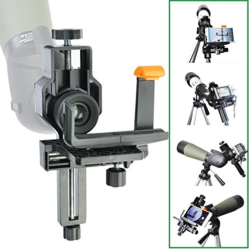 Telescope / Microscope / Spotting Scope Digital Camera Digiscoping Adapter for Photography-Also Comes with A Smartphone Adapter